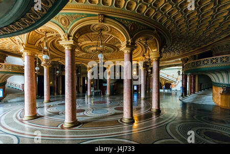 Stock Photo - Interior of Romanian Athenaeum (Ateneul Român) concert hall in Bucharest, Romania - Stock Photo
