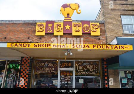 big top candy shop and soda fountain s congress ave austin texas - Stock Photo