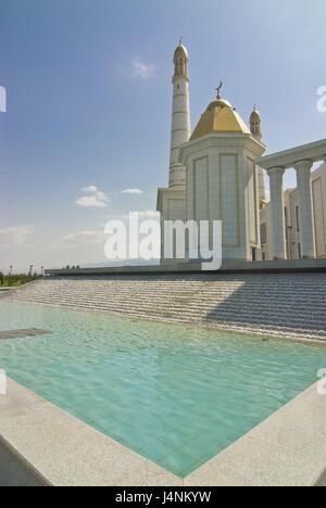 Turkmenbashi Ruhi mosque, Turkmenistan, - Stock Photo