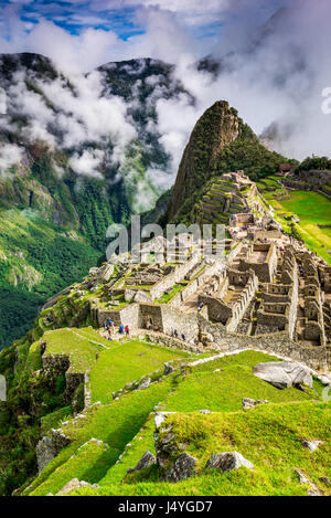 Machu Picchu, Peru - Ruins of Inca Empire city, in Cusco region, amazing place of South America. - Stock Photo