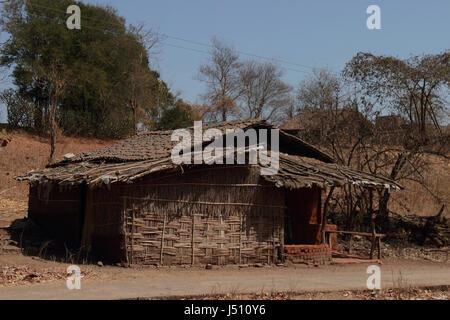 Huts. Gujarat desert - Stock Photo