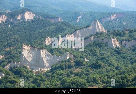 Melnik Sand Pyramids, Melnik, Bulgaria. - Stock Photo