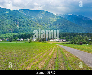 Liechtenstein.  Farming scene. - Stock Photo