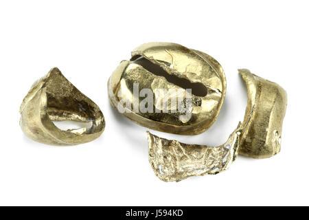 dental gold isolated on white background - Stock Photo