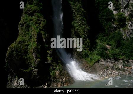 waterfall at liechtenstein gorge - Stock Photo