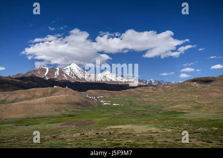 Himalayan Peaks at high altitude in northern Indian part of the mighty Himalayan Mountain range. This is serious - Stock Photo