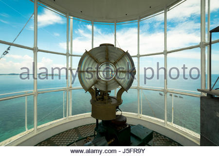 Top View From The Lighthouse at Lengkuas Island, Indonesia - Stock Photo
