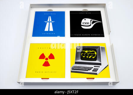 Kraftwerk The Catalogue box set CD's - Stock Photo