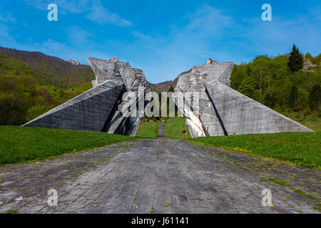 Sutjeska National Park, Bosnia and Herzegovina - 3 May 2015 - The World War II monument in Sutjeska National Park, - Stock Photo