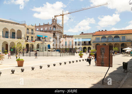 Old Square (plaza vieja), Havana, Cuba - Stock Photo