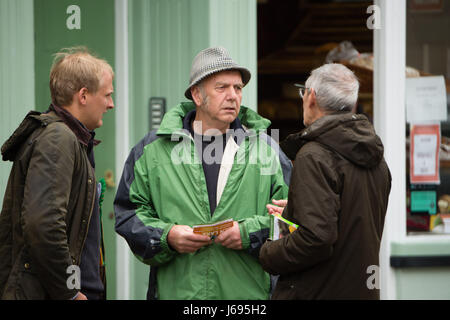 Aberystwyth Wales UK, Saturday 20 May 2017 General Election 2017: Supporters of Plaid Cymru out canvassing for votes - Stock Photo