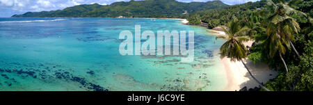 Tropical beach Anse Royale, Mahe, Seychelles - Stock Photo