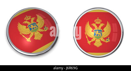 flag button banner badge pin sticker stickers travel isolated tourism round - Stock Photo