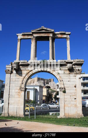 arch greece marble ruins style of construction architecture architectural style - Stock Photo