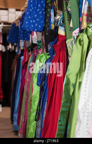 Traditional Bavarian dress in shop prepared for Octoberfest - Stock Photo