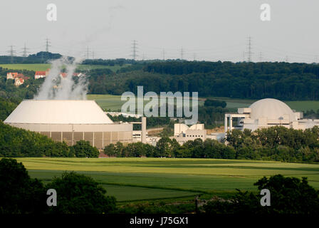 power station energy power electricity electric power nuclear power station - Stock Photo