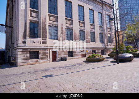 Central Library and Graves Art Gallery (opened 1934) Tudor Square, Sheffield, South Yorkshire. Exterior decorative - Stock Photo