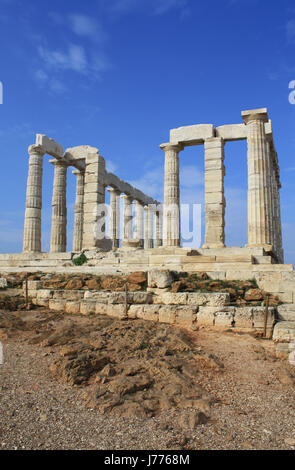 temple greece greek ruins style of construction architecture architectural - Stock Photo