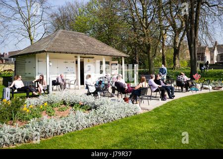 One of those rare Spring days, Museum Gardens, City of York, England, UK - Stock Photo