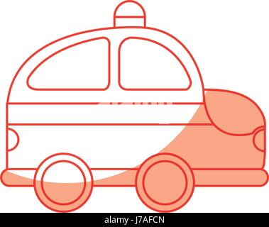 police patrol drawing icon - Stock Photo