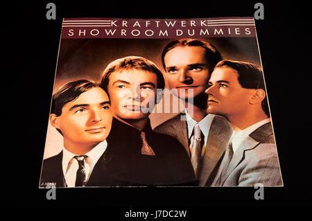 Kraftwerk Showroom Dummies 12 inch single - Stock Photo
