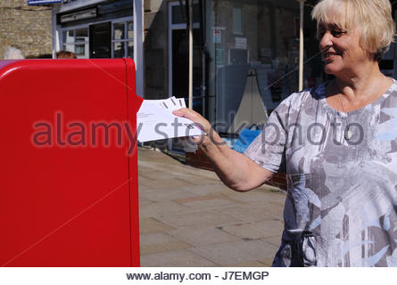 Middleton-in-Teesdale, Co Durham, UK 24th May 2017 As Postal Ballot voting in the UK Parliamentary Election gets - Stock Photo