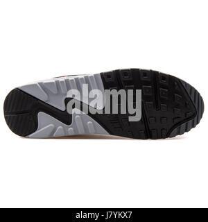 Nike Air Max 90 Print Grey White Orange Men's Running Sneakers - 749817-018 - Stock Photo