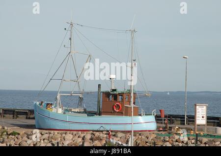 ship on samso - Stock Photo