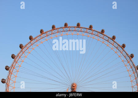 London Eye Ferris Wheel (detail), London, England. - Stock Photo