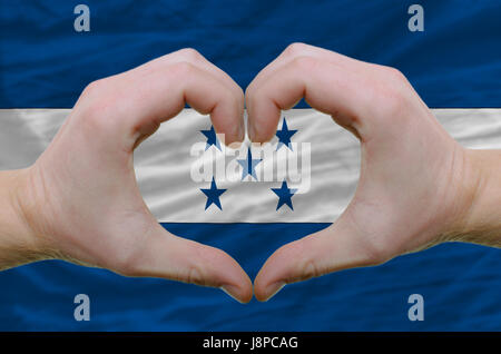 gesture, flag, national, country, nation, patriot, heart, gesture, hand, - Stock Photo