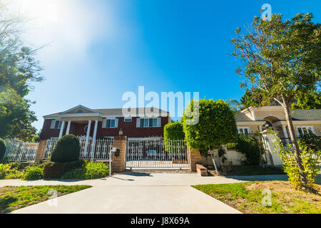 Beautiful houses in southern California - Stock Photo