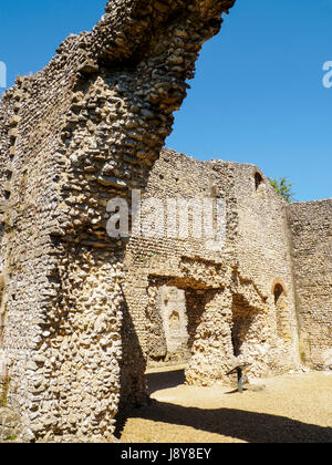Wolvesey Castle, also known as the 'Old Bishop's Palace', is a ruined castle in Winchester, Hampshire, England located - Stock Photo
