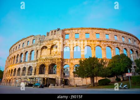 Pula Arena, Roman era amphitheatre, Pula, Istria, Croatia - Stock Photo