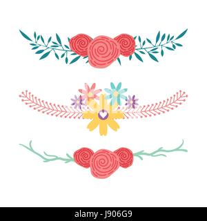 decorative rustic vintage icons set - Stock Photo