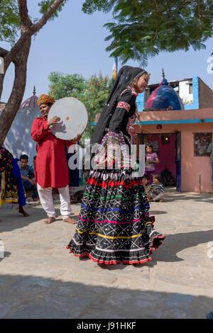 Kalbelia nomads of Rajasthan, India - Stock Photo