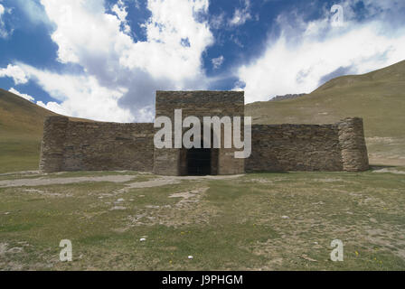 Caravanserai,stone house,Tash Rabat,Kirghizistan, - Stock Photo