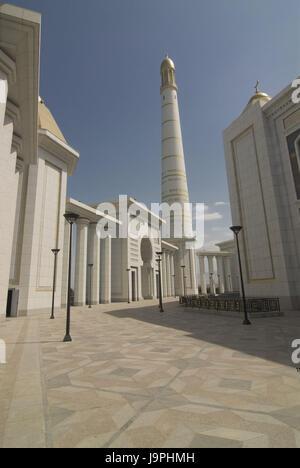 Turkmenbashi Ruhi mosque,Turkmenistan, - Stock Photo