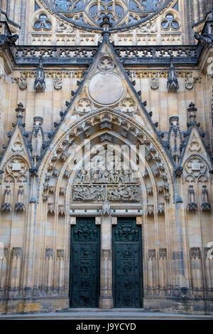 St. Vitus Cathedral in Prague Castle, Prague, Czech Republic - Stock Photo