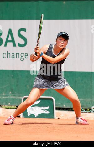 Paris, France. 4th June, 2017. Anri Nagata (JPN) Tennis : Anri Nagata of Japan during the Girl's singles first round - Stock Photo