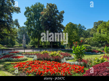 Garden on Luiseninsel, Tiergarten, Berlin, Germany - Stock Photo