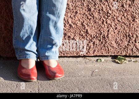 legs, blue, city, town, stone, shine, shines, bright, lucent, light, serene, - Stock Photo