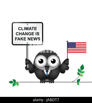 Comical American climate change denial after pulling out of the Paris  Agreement - Stock Photo