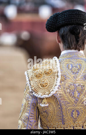 Detail of bullfighter dress or called in spanish 'traje de luces' , Spain - Stock Photo