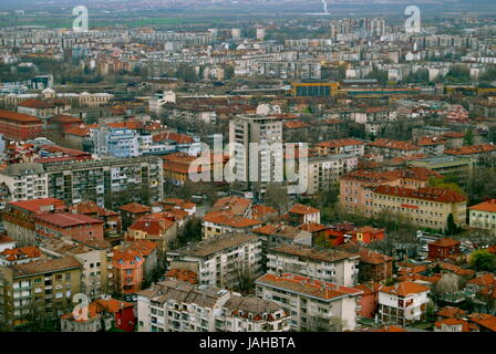 A view of Plovdiv city, Bulgaria - Stock Photo