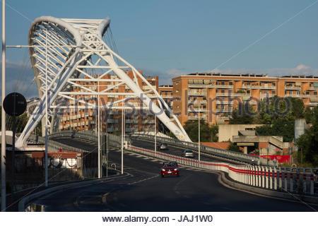 The Garbatella Cobra Bridge in the Ostiense section of Rome, Italy. - Stock Photo