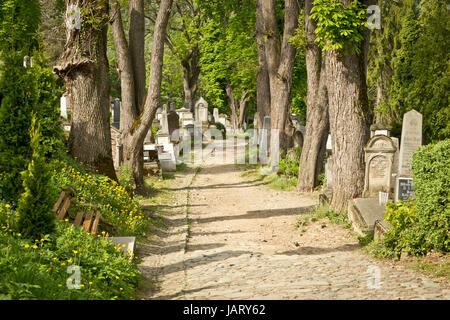 Old graveyard in Sighisoara, Romania - Stock Photo