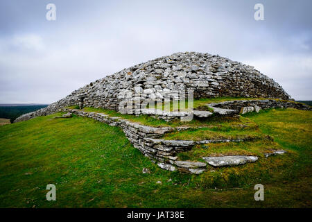 The Grey Cairns of Camster, Neolithic chambered cairns, Caithness, Highland, Scotland, United Kingdom, Europe - Stock Photo