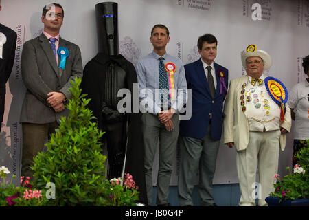 Maidenhead, UK. 9th June, 2017. Some of the candidates for the constituency of Maidenhead in the general election. - Stock Photo