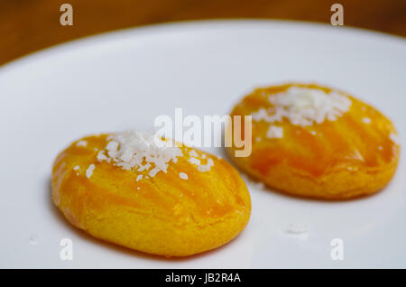 Delicious turkish dessert sekerpare with coconut powder. - Stock Photo