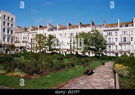 Warrior Square in summertime, St Leonards On Sea, East Sussex, UK - Stock Photo